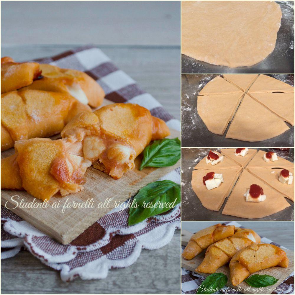 cornetti pomodoro e mozzarella sfiziosi ricetta