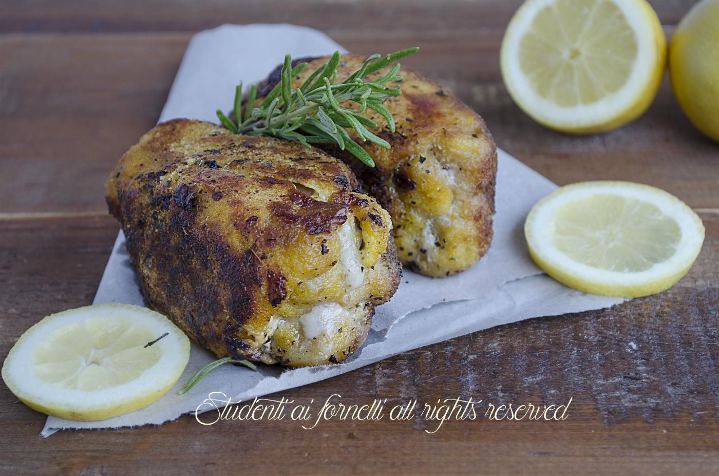 Pollo al forno impanato con scamorza come fritto ricetta - Forno e microonde insieme ...