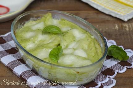 conchiglioni ripieni pesto e ricotta con besciamella e mozzarella ricetta primo piatto gustoso