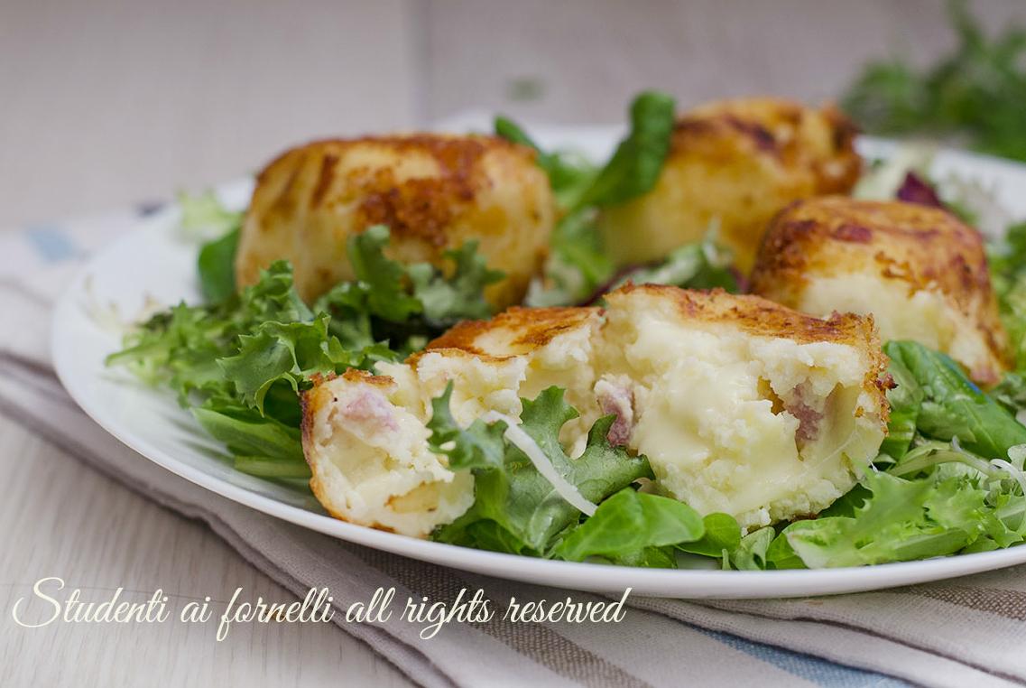 polpette ricotta e patate speck e scamorza ricetta senza uova facili veloci