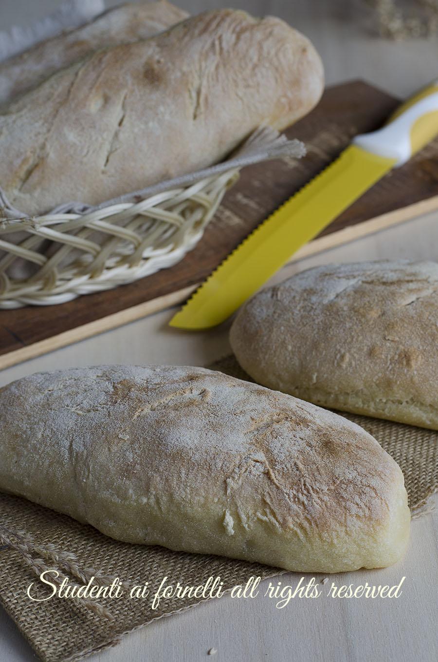 filoncini di semola con lievito madre a lunga lievitazione alta idratazione soffici ricetta pane