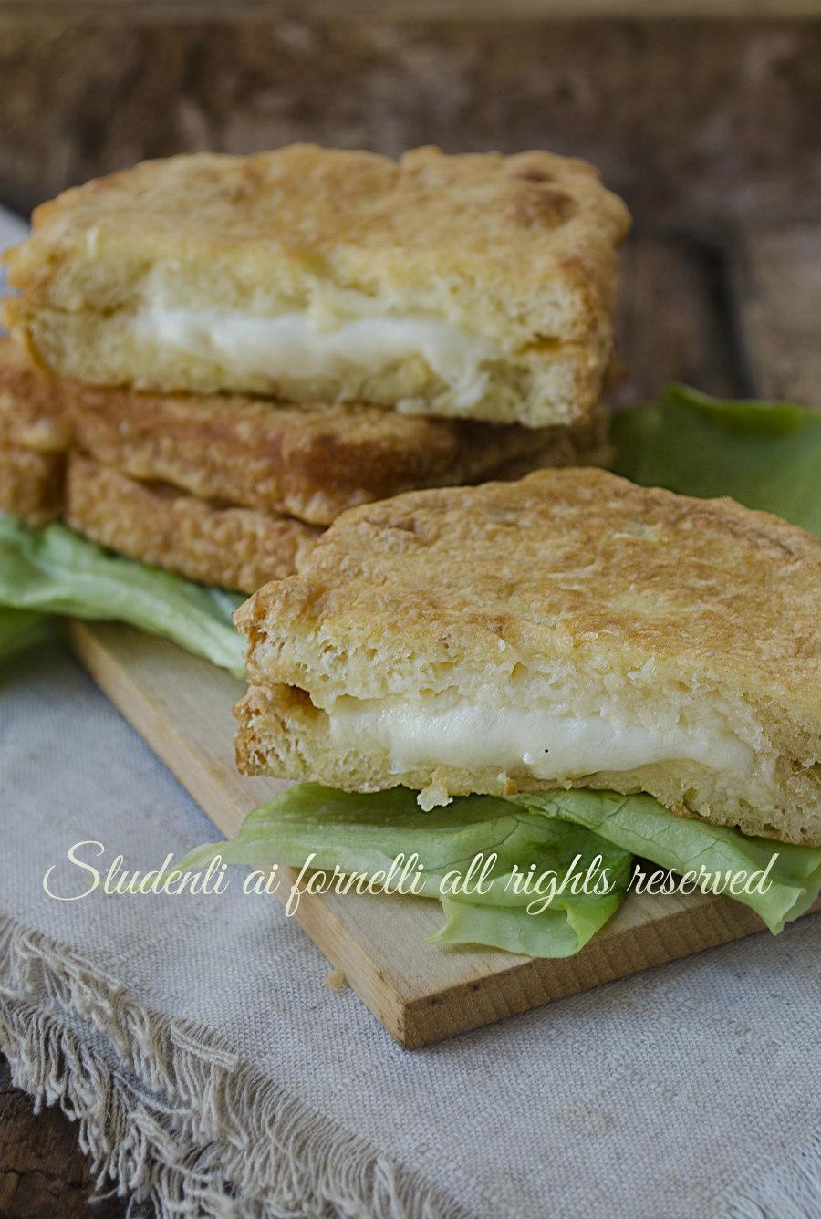 mozzarella in carrozza ricetta pane con provola mozzarella fritta