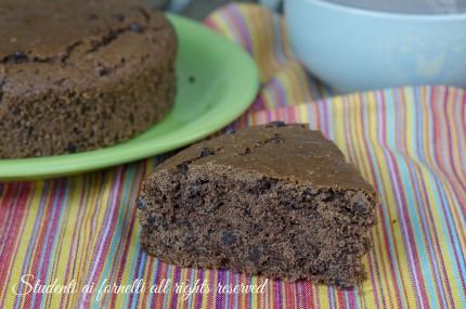 ricetta torta al cioccolato senza uova senza latte e senza burro ricetta torta cacao e gocce di cioccolato light dieta