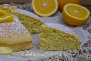 Torta arancia e mandorle