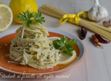 Spaghetti al limone cremosi senza panna