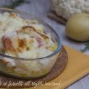 Tortino cavolfiori e patate con prosciutto e scamorza