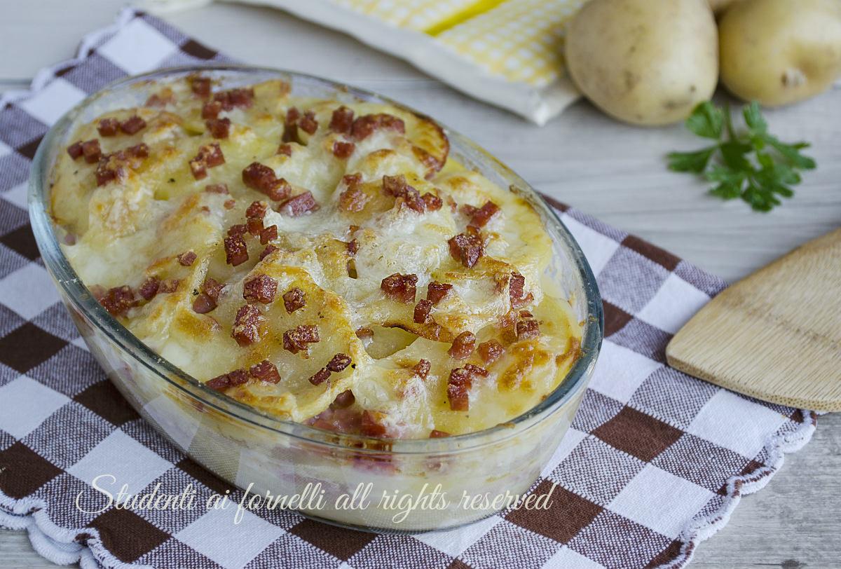 ricetta tortino di patate e prosciutto croccanti con mozzarella ricetta secondo sfizioso