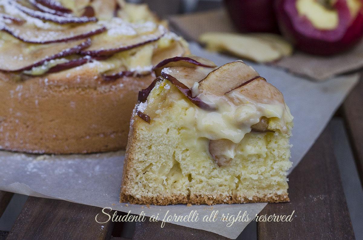 Torta mele e crema pasticcera