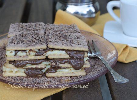 Mattonella di biscotti nutella e crema pasticcera