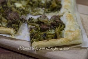 Sfoglia salata broccoli e salsiccia