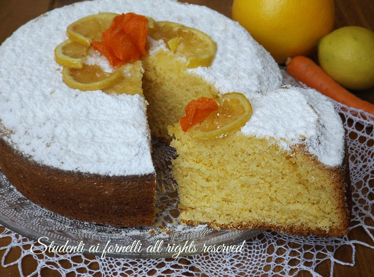 Ricetta torta ace arancia catota e limone ricetta dolce soffice goloso