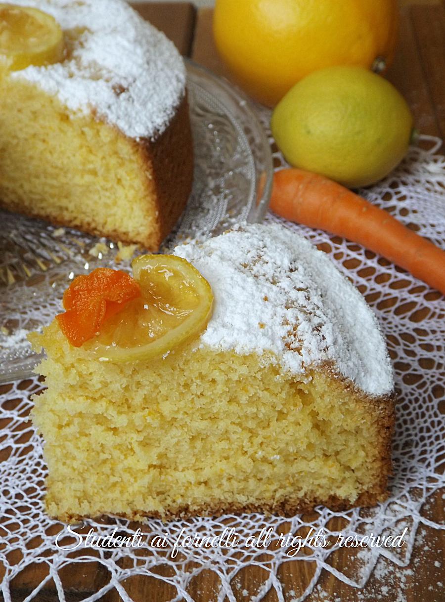 ricetta torta ace arancia catota e limone ricetta dolce soffice goloso colazione merenda
