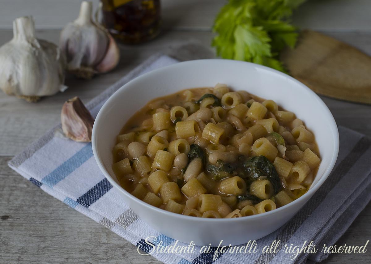 Popolare Pasta con fagioli cannellini cremosa, ricetta QP52