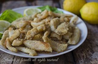 calamari sabbiosi al forno ricetta secondo piatti pesce facile veloce economico leggero anelli di calamari totano