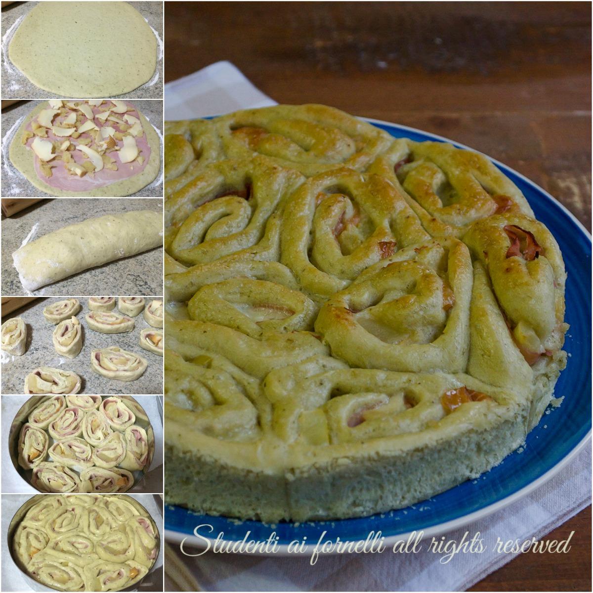 ricetta torta di rose al pesto con patate prosciutto e provola ricetta sfiziosa