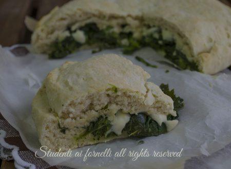 Focaccia broccoli e stracchino soffice