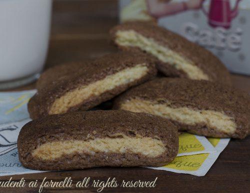 Biscottoni bicolore panna e cioccolato