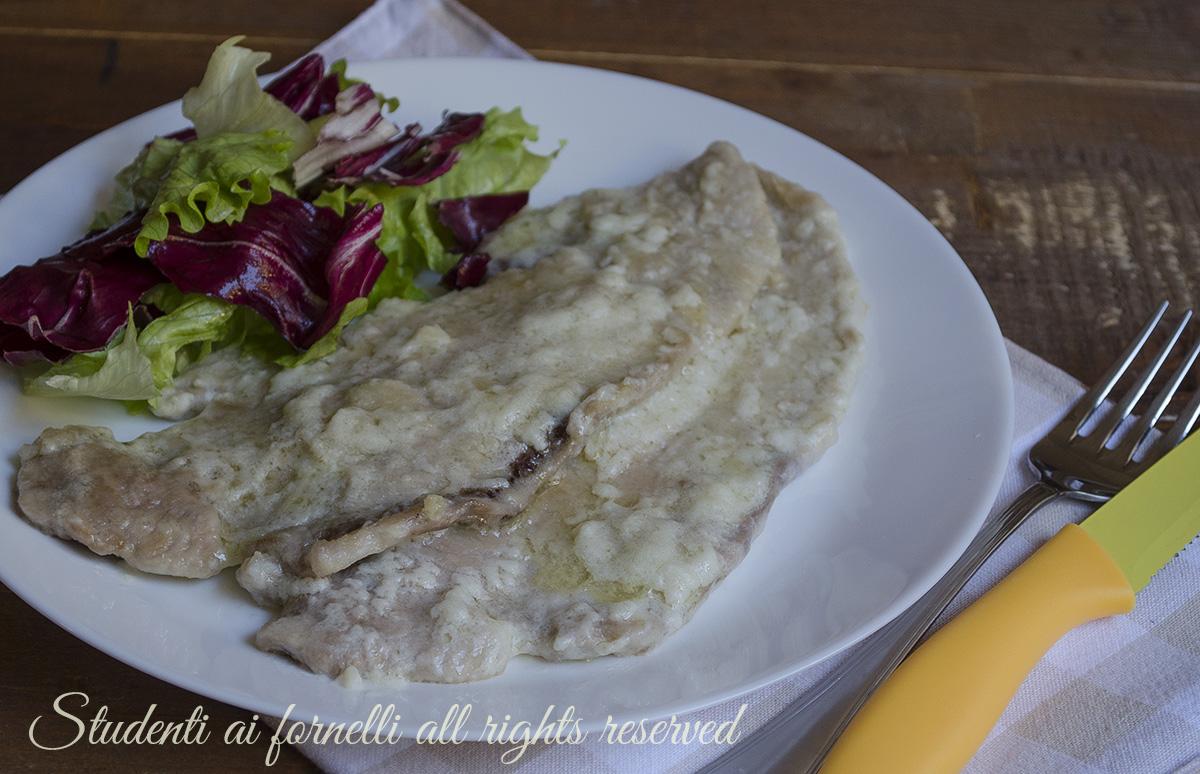 scaloppine al latte ricetta secondo carne pollo maiale lonza facile e veloce