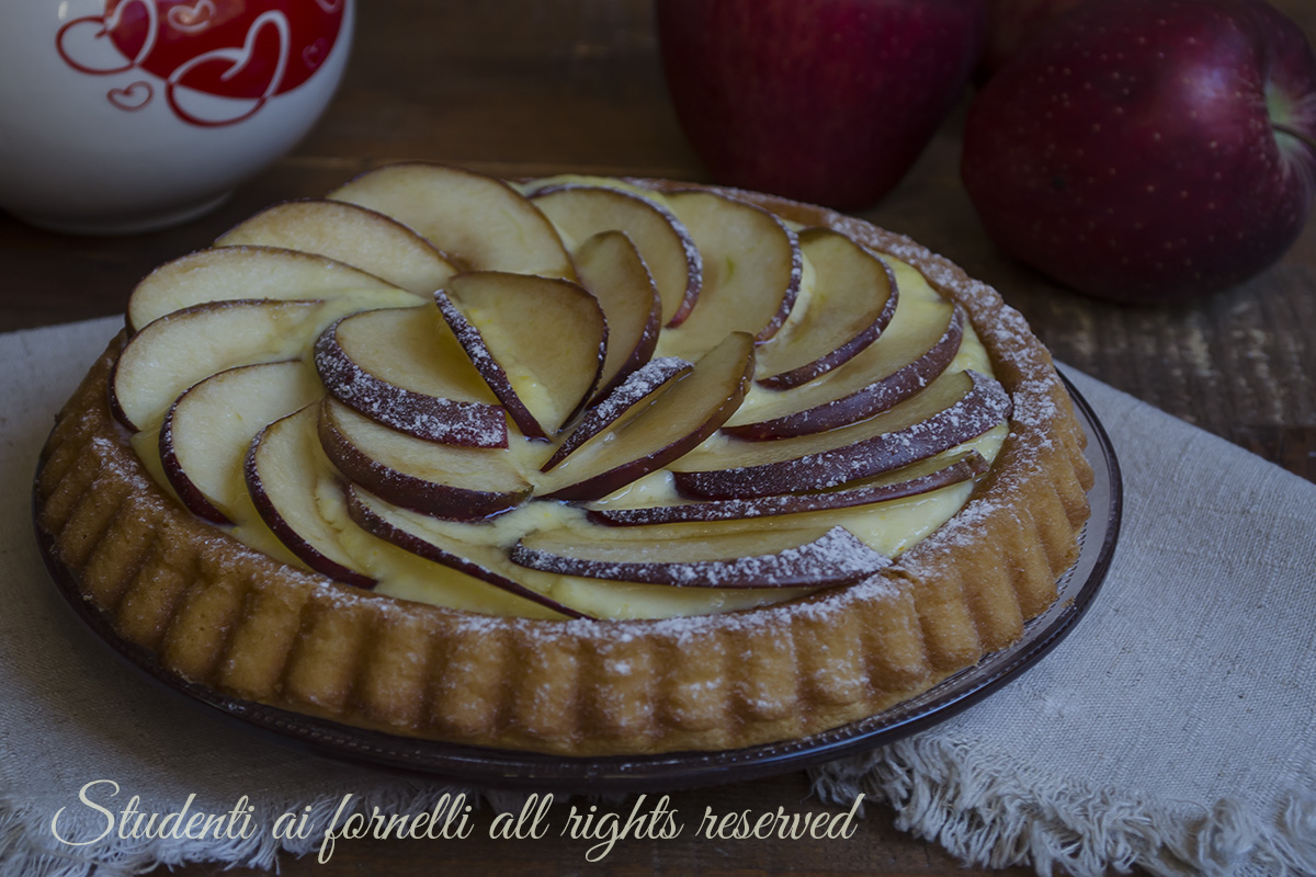 torta morbida mele e crema pasticcera ricetta crostata dolce facile e veloce