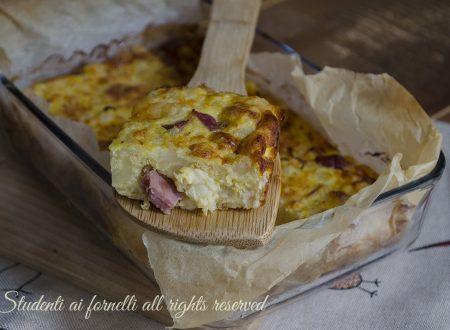 FRITTATA DI CAVOLFIORI al FORNO prosciutto e formaggio