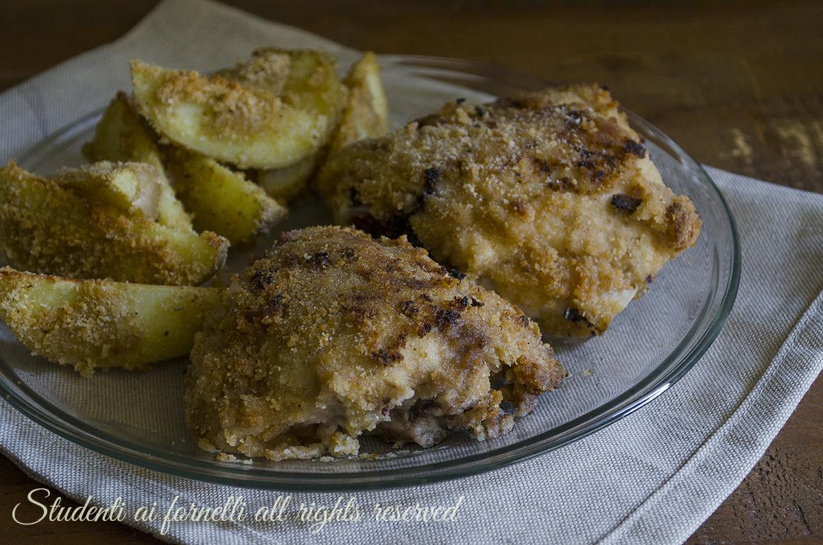 ricetta pollo all'americana al forno con yogurt ed erbe aromatiche ricetta secondo piatto pollo croccante impanato