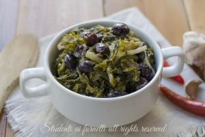 Scarole e olive affogate