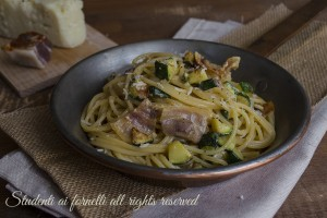 Carbonara di zucchine facile e veloce