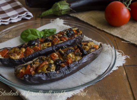 MELANZANE RIPIENE alla MEDITERRANEA Senza Carne