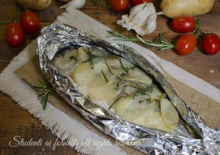 orata in crosta di patate al cartoccio al forno ricette pesce secondo piatto facile veloce