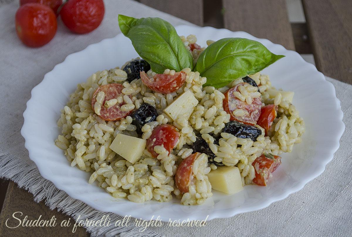 Exceptionnel Insalata di riso al pesto pomodorini e formaggio ricetta BK77
