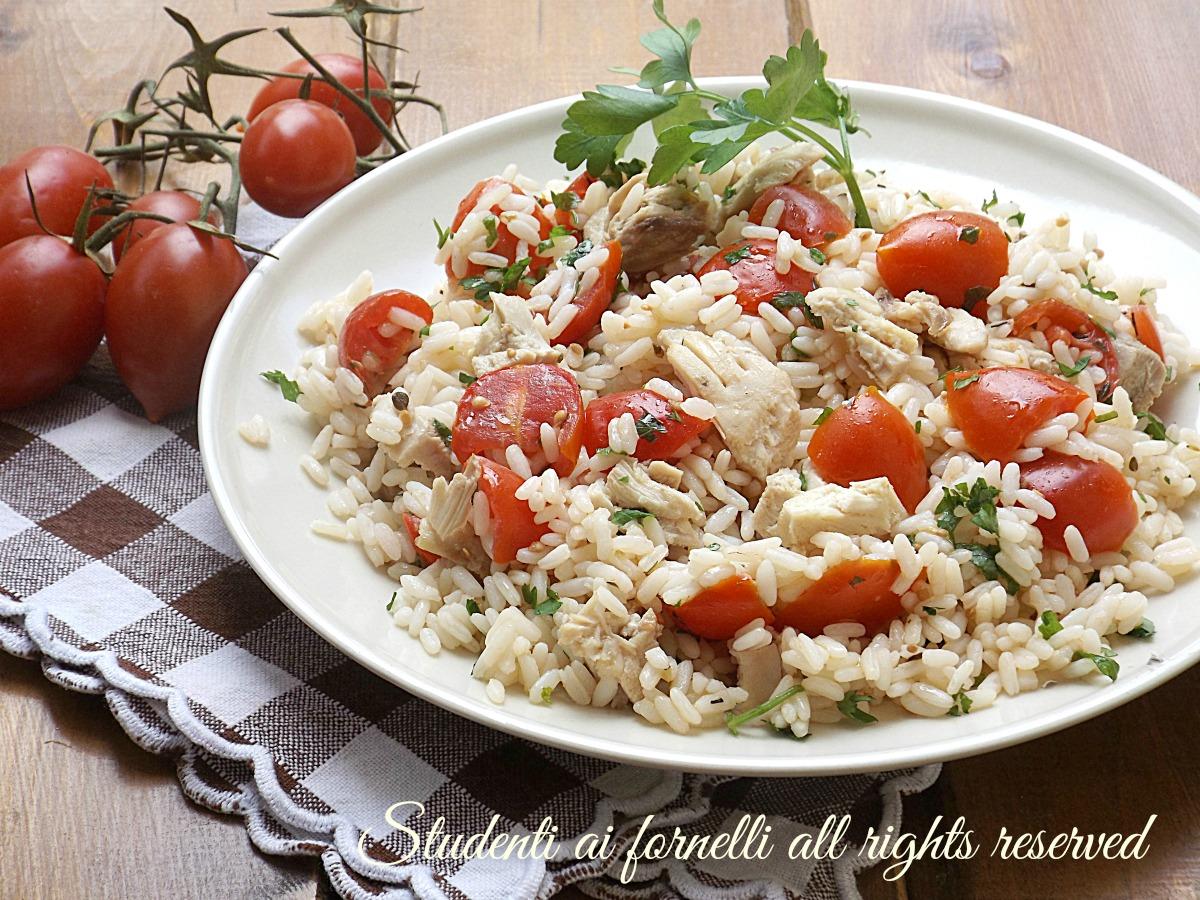 Exceptionnel Riso freddo con pollo pomodorini e tonno insalata estiva BK77