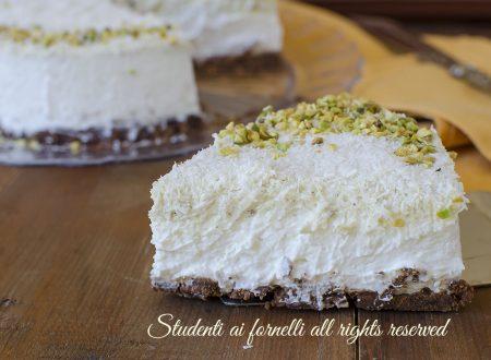 Torta gelato pistacchio e cocco