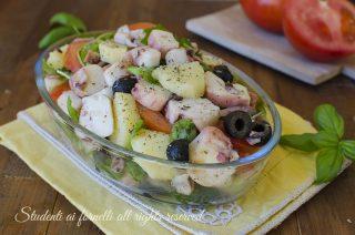 nsalata di polpo rucola e olive con pomodori e patate lesse ricetta insalata di pesce fresca