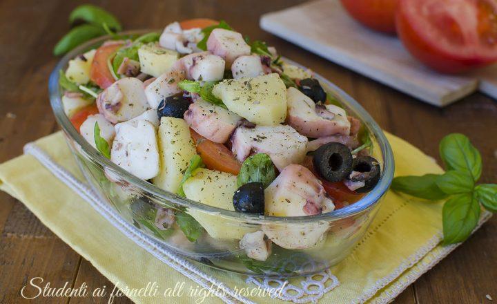 Insalata di polpo rucola e olive