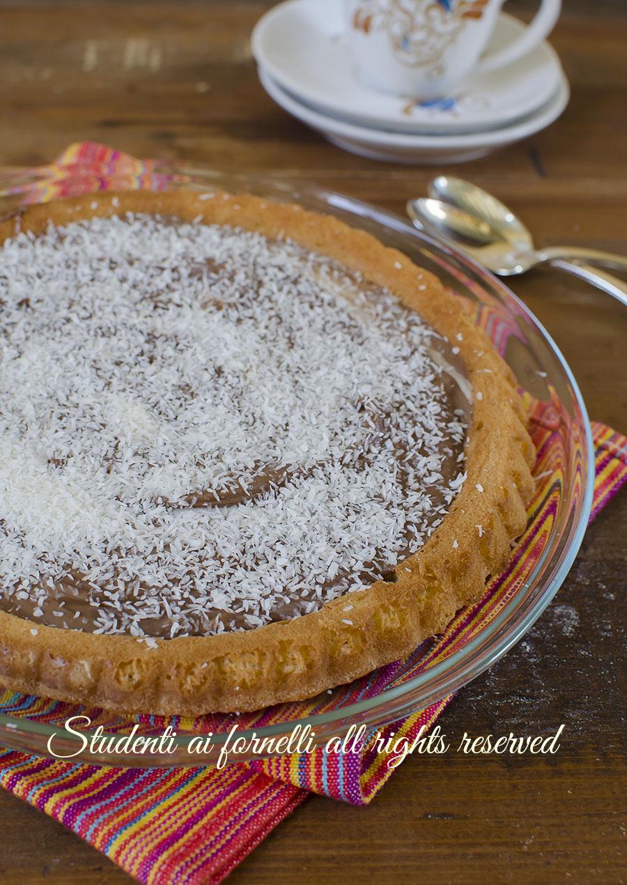 ricetta crostata morbida nutella e cocco ricetta torta furba facile velocissima
