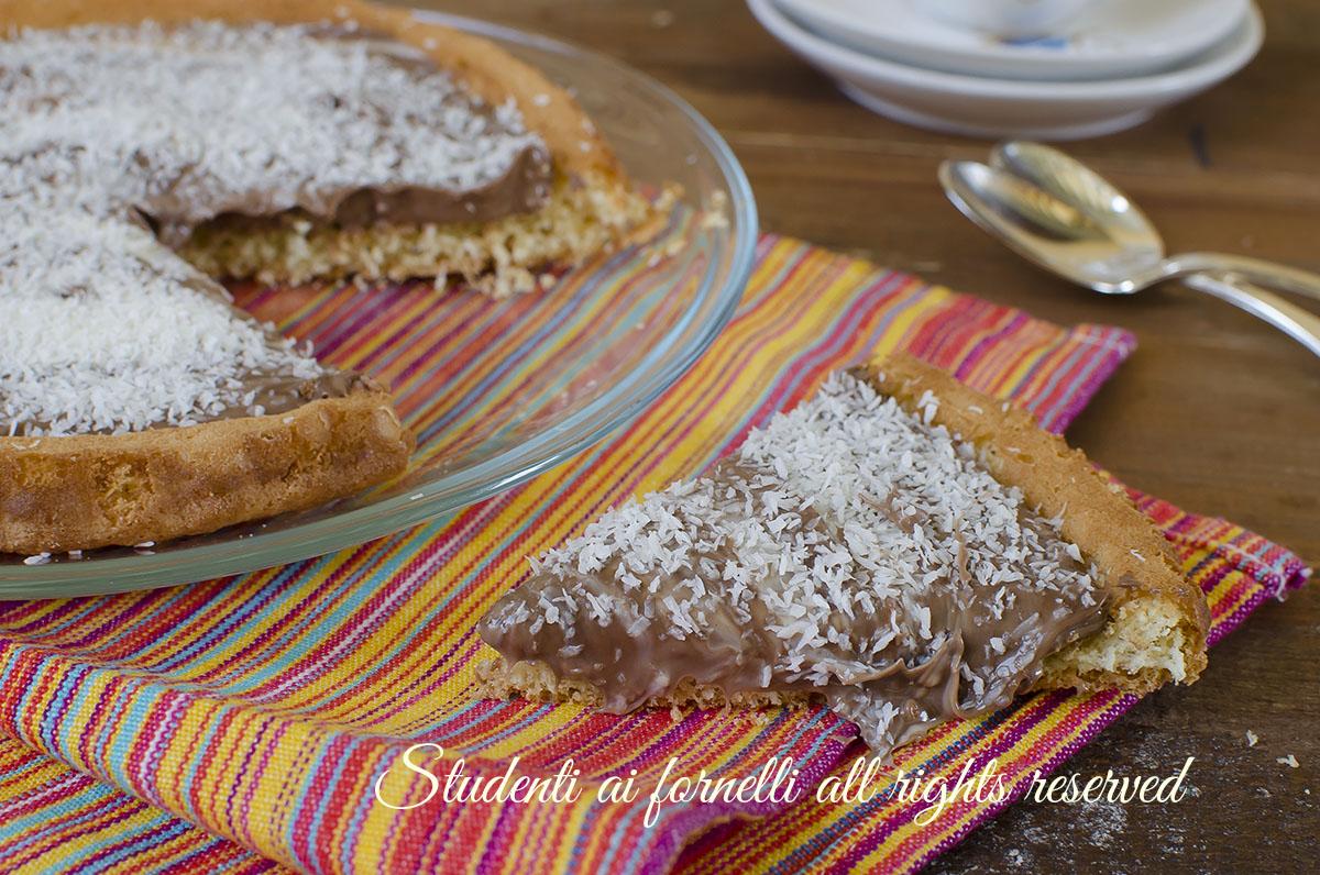 ricetta golosa crostata morbida nutella e cocco ricetta torta furba facile velocissima