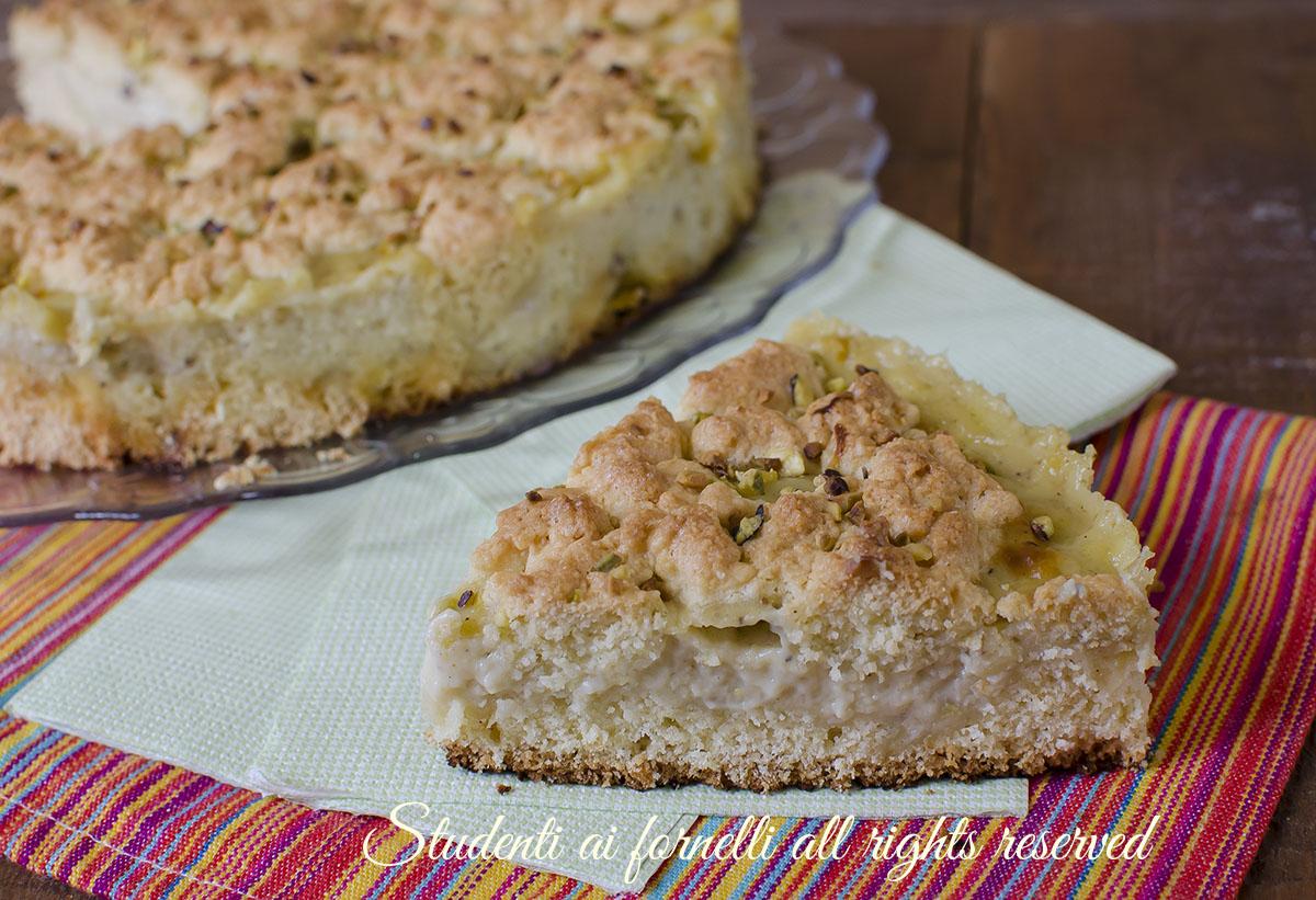 ricetta sbriciolata al pistacchio con crema ricetta dolce facile veloce goloso
