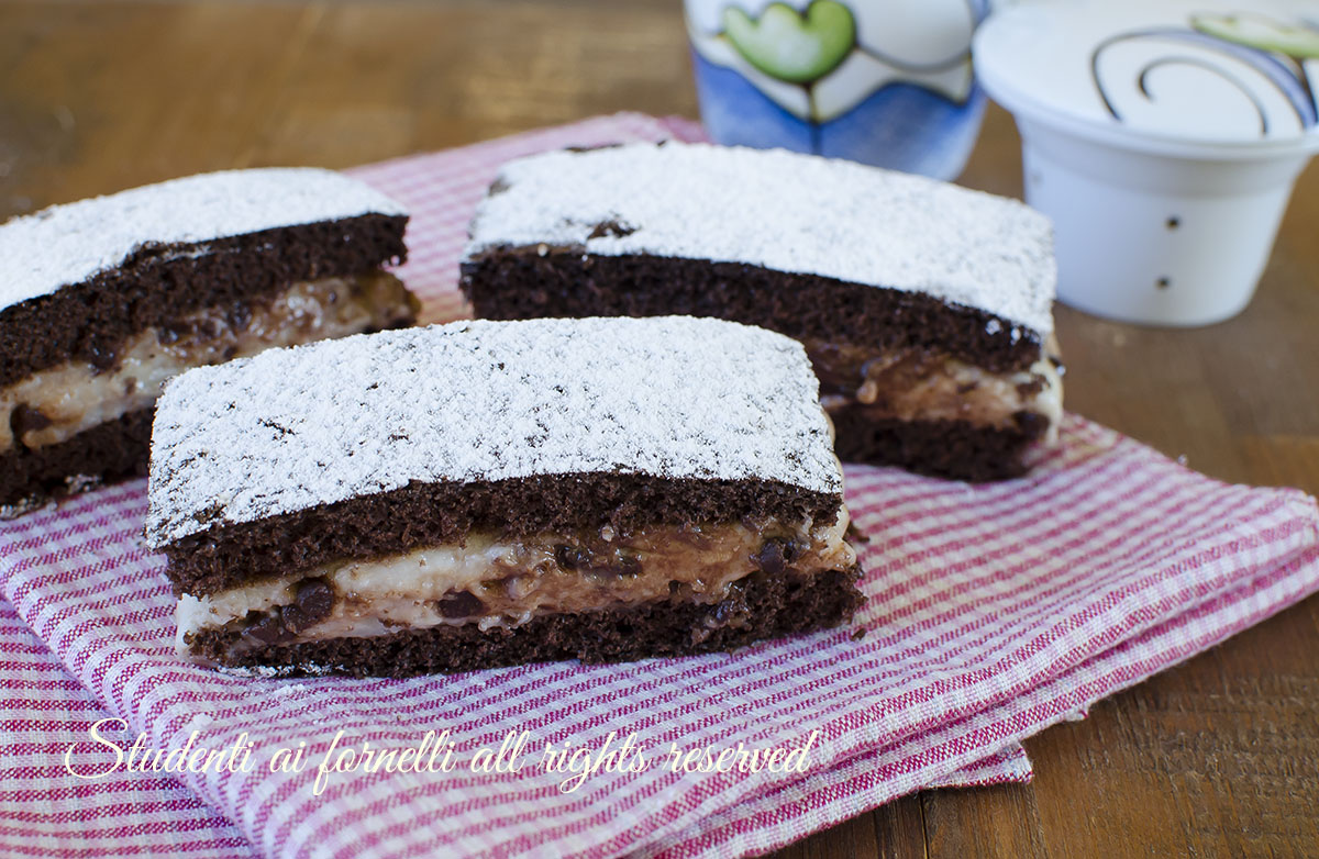 ricetta tortine con crema al latte e cioccolato ricetta merendina golose facili veloci