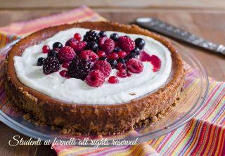 ricetta dolce cheesecake ai frutti di bosco ricetta cheesecake ak forno golosa facile veloce con philadelphia