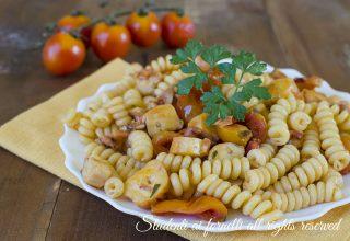 ricetta pasta polpo e pomodorini veloce ricetta primo pesce facile gustoso