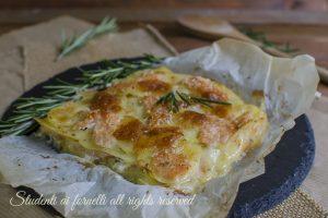 Parmigiana salmone e patate