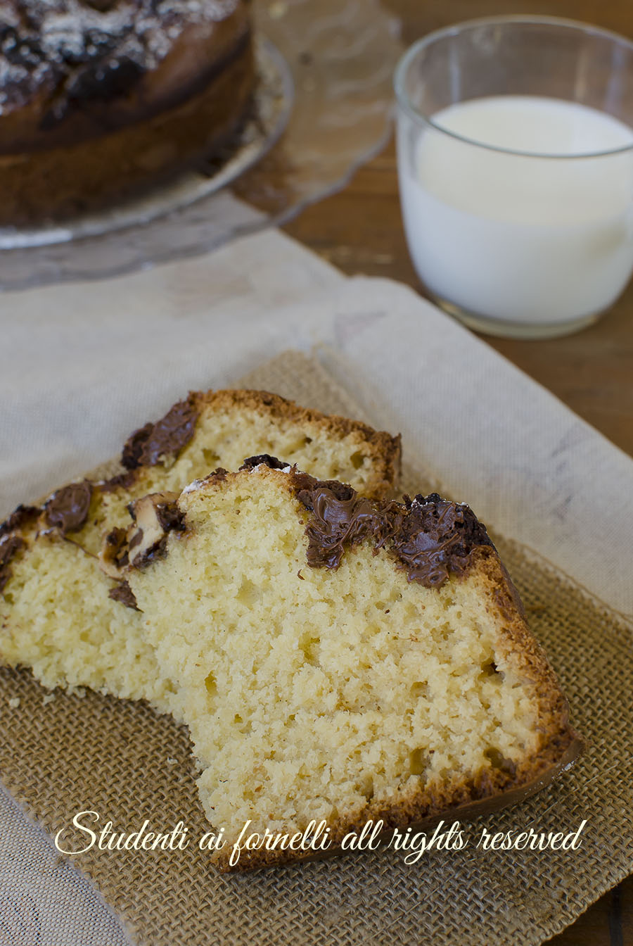 torta cocco e nutella ricetta dolce da colazione soffice goloso senza bilancia