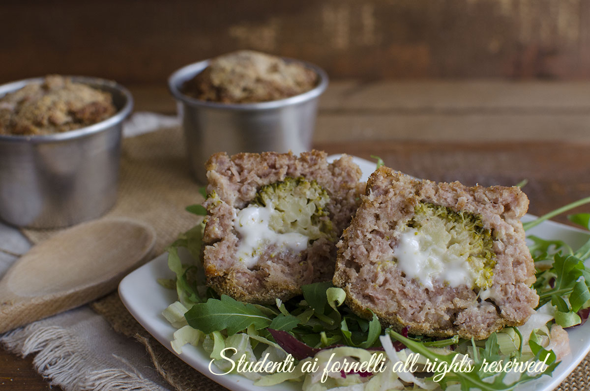 ricetta tortini ripieni broccoli e stracchino ricetta secondo piatto