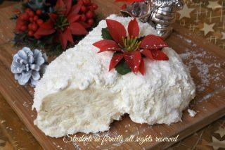 Tronchetto raffaello wafer cocco e cioccolato bianco ricetta dolce natale senza cottura e senza uova