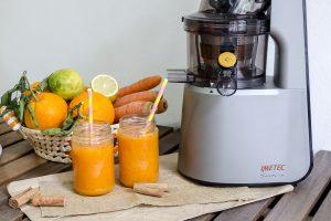 Succo all'arancia zucca e carote