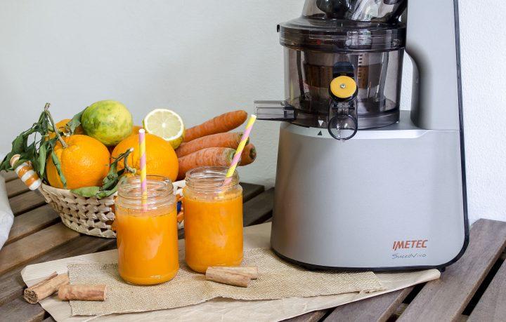 succo all'arancia zucca e carota cannella e miele imetec succovivo ricetta