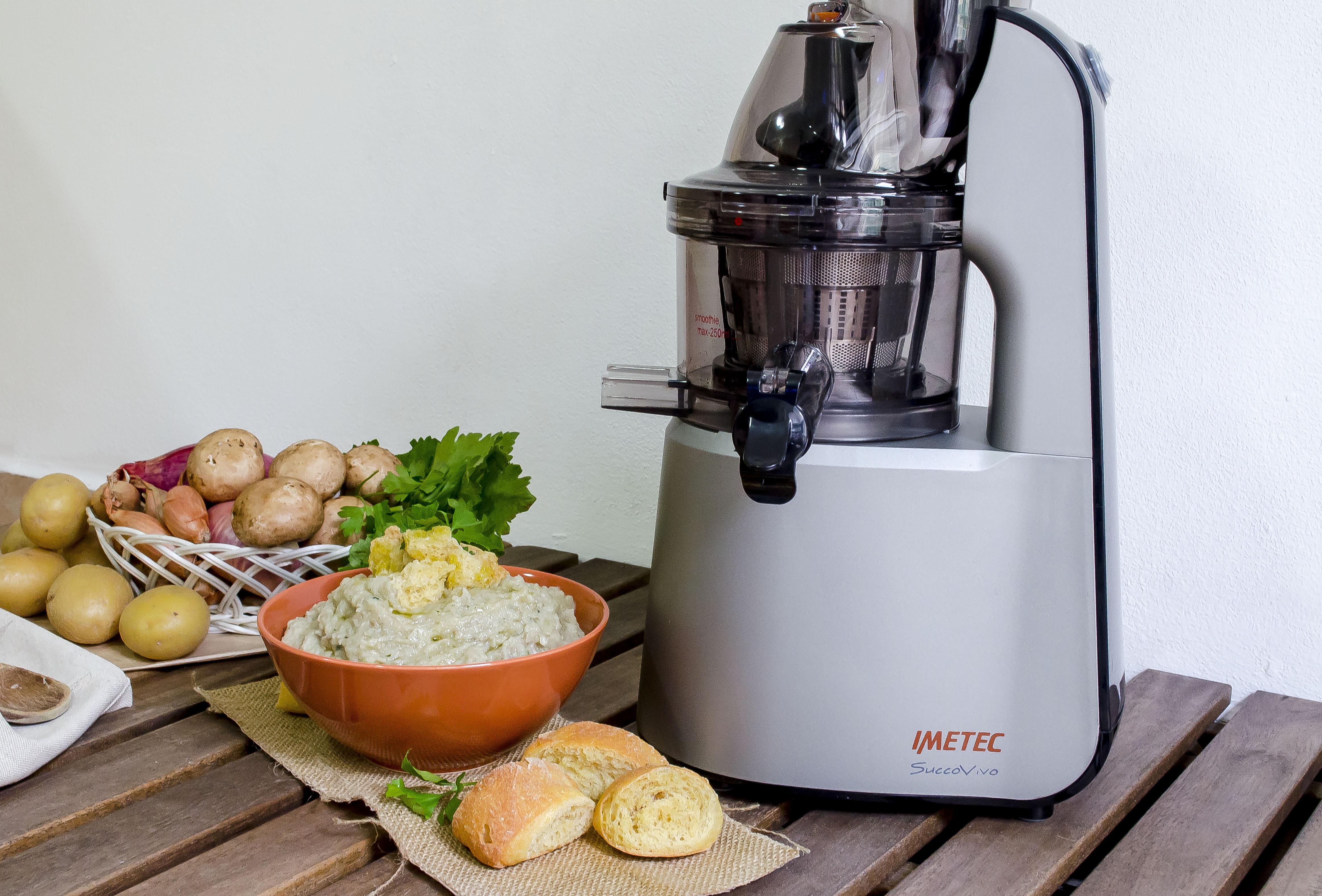 Vellutata di funghi e patate cremosa ricetta zuppa vegetariana for Imetec estrattore