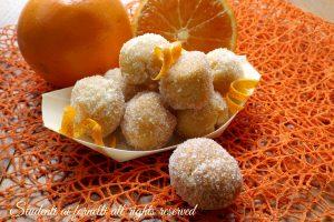 Castagnole arancia e mascarpone
