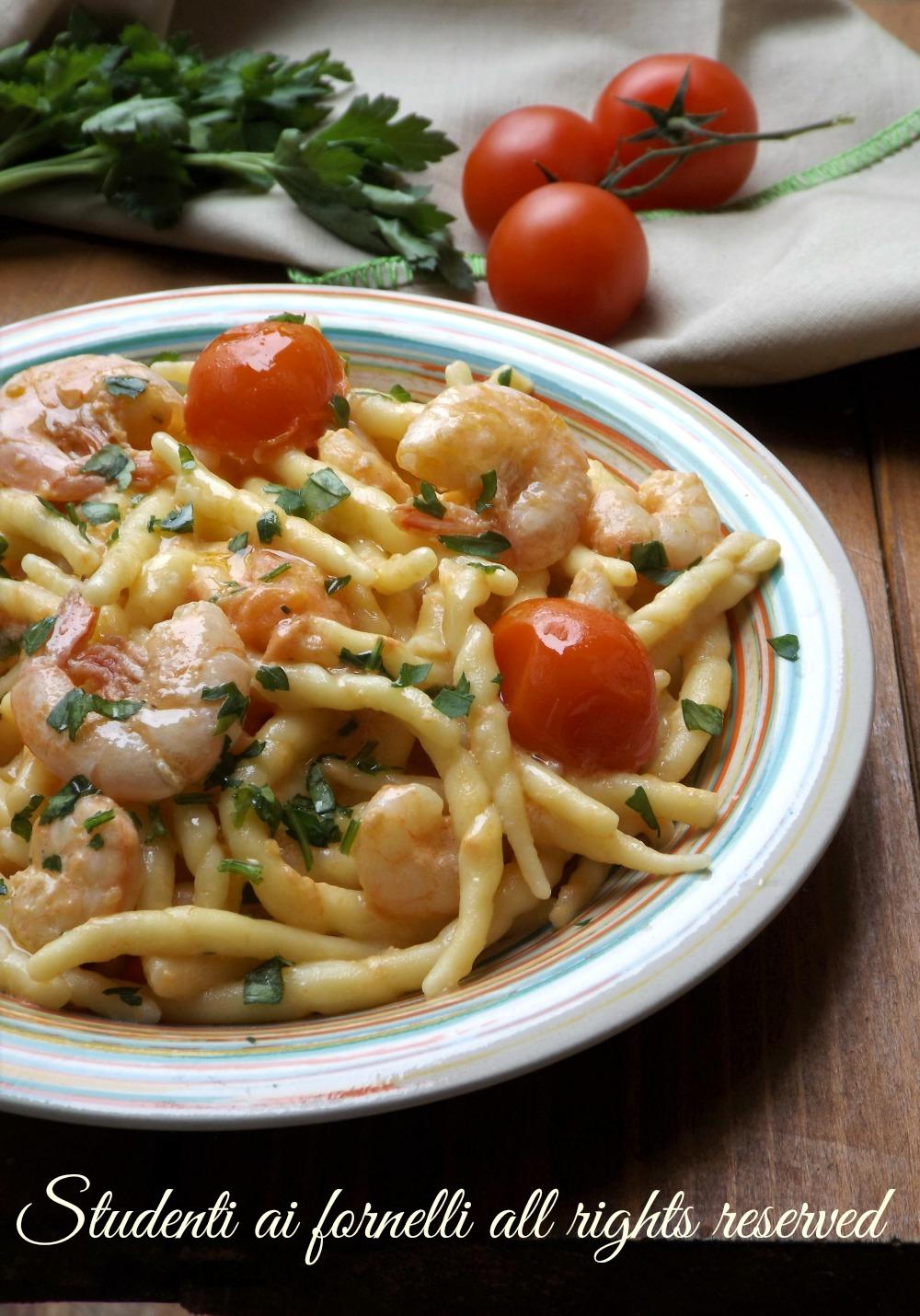 Trofie Gamberetti E Pomodorini Ricetta Pasta Cremosa