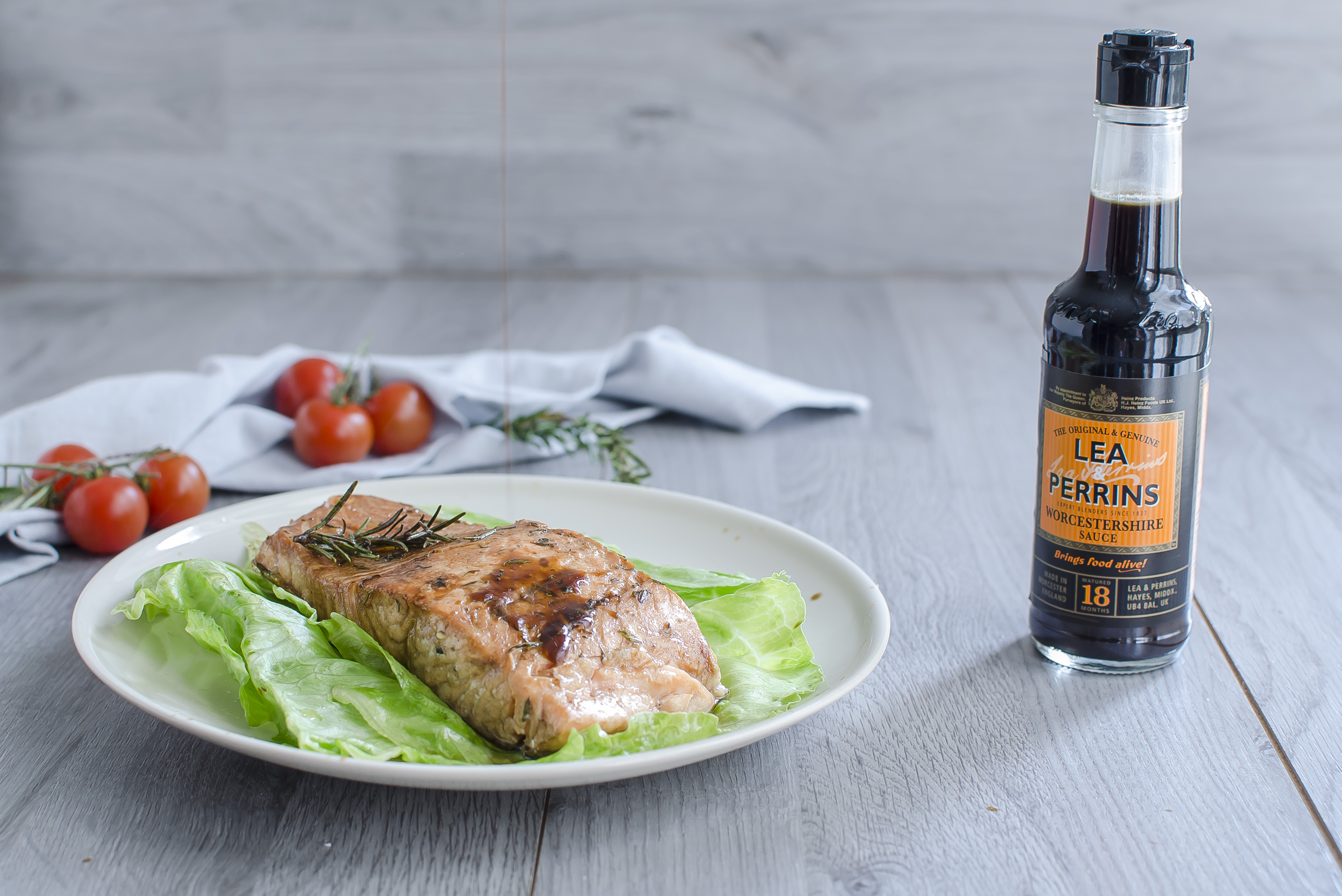 salmone al forno alla salsa worcesterchire facile veloce light ricetta secondo pesce